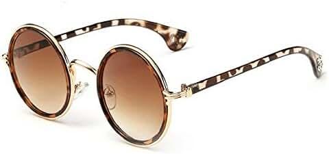 Niouxhc Unisex's Round Mirror Polycarbonate Sunglasses