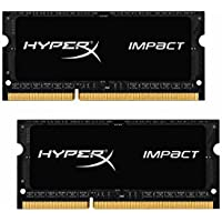 Kingston Technology HyperX Impact 16GB (2 x 8G) 204-Pin DDR3 SO-DIMM DDR3L 1600 MHz (PC3L 12800) Laptop Memory Model HX316LS9IBK2/16