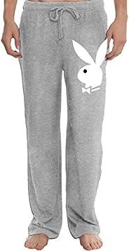 Grghtrghlsd Play Boy - Bunny Men's Open Bottom Casual Jogger Sweatpants Elastic W