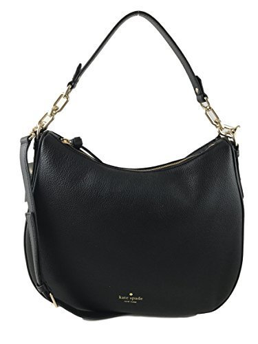 Spade Inch Kate 10 (Kate Spade New York Mulberry Street Vivian Hobo Purse (Black))