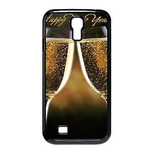 Samsung Galaxy S4 Case, Happy New Year Champagne Case for Galaxy S4 Black Leemarson sf4112245