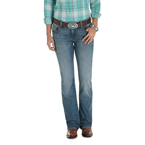 Wrangler Women's Retro Sadie Low Rise Stretch Boot Cut Jean, Carson, 19W x 32L