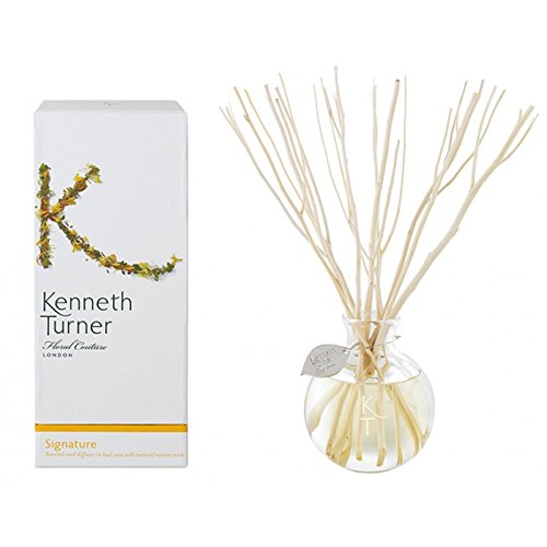Kenneth Turner Signature Scented Reed Diffuser in Bud Vase with rattan reeds by Kenneth Turner