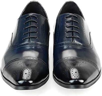 本革 レザー メンズ ビジネスシューズ 内羽根 レースアップ ストレートチップ メダリオン ロングノーズ ドレスシューズ 革靴 ブラック ネイビー コーヒー ブラウン ダークネイビー