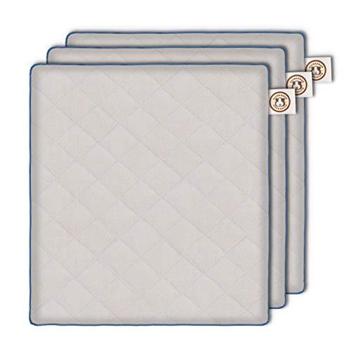 GuineaDad Fleece Liner 2.0 | Guinea Pig Fleece Cage Liners | Guinea Pig Bedding | Extra Absorbent Antibacterial Bamboo | Waterproof | Available in (12 x 12 inch, Grey)