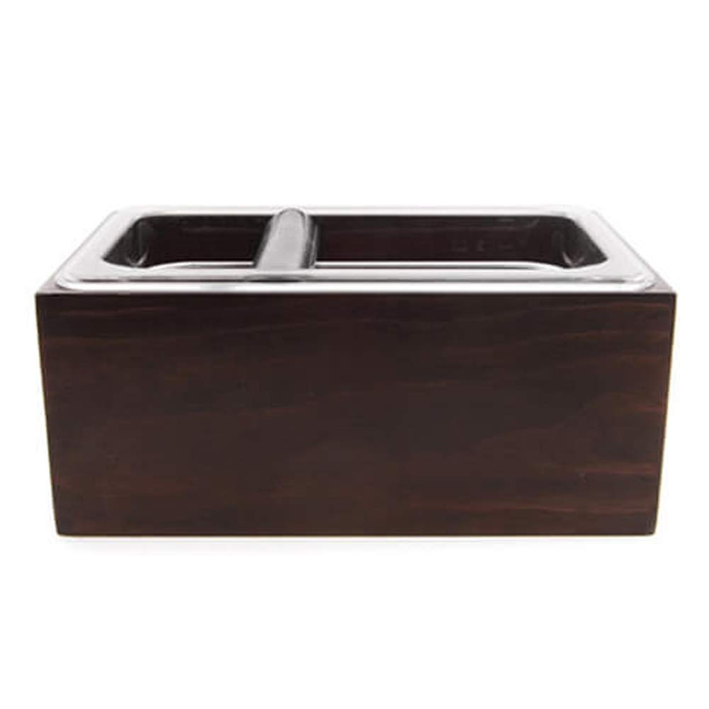 Serendipity Clear Polycarbonate Coffee Knock Box with Wood Holder Set (Large)