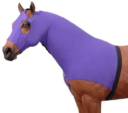 Tough 1 Spandex Mane Stay Hood, Purple, Large