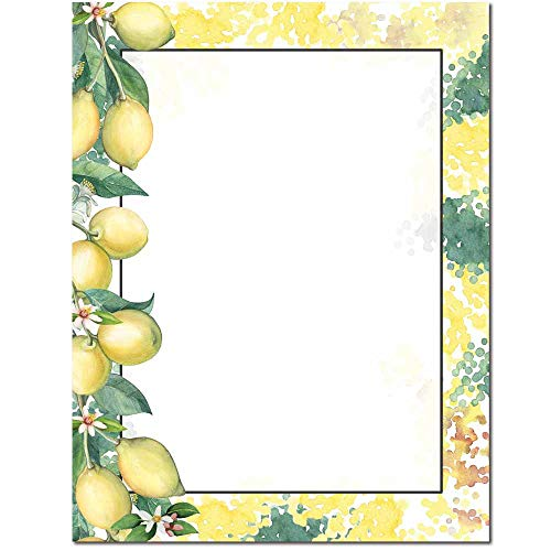 Lemon Branch Letterhead Laser & Inkjet Printer Paper (100 Pack)