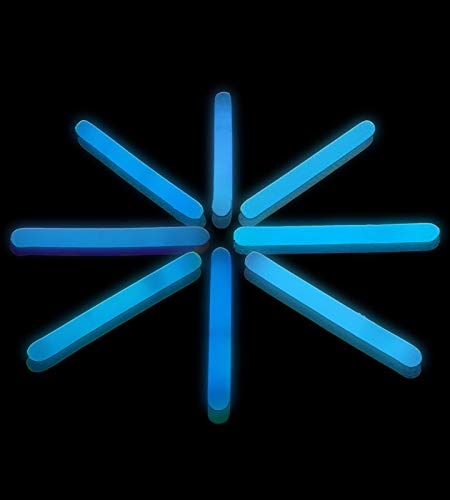 Lumistick 100 Pack 2 Inch - Mini Glowsticks Ultra Bright Long-Lasting Snap Chem Light for Fishing, Parties, Camping and Other Applications (Blue, 100 -