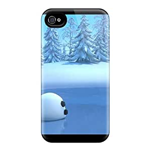 Qel5768RIrk Cases Covers, Fashionable Iphone 4/4s Cases - Olaf In Frozen Movie