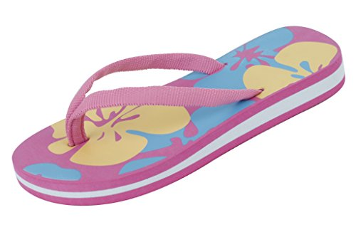 Sunville Starbay Kid's Slip-On Flip Flop Fuchsia 13 M US Little Kid