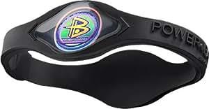 Power Balance Silicone Wristband Black with Black - LARGE