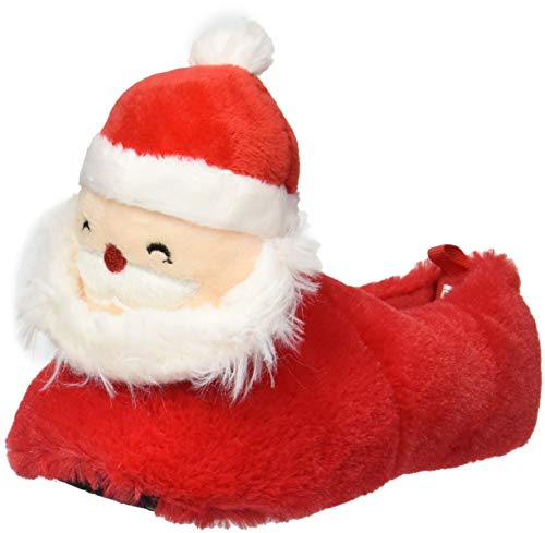 carter's Baby Unisex Curtis-S Santa Face Slipper, Red, 5/6 M US Toddler
