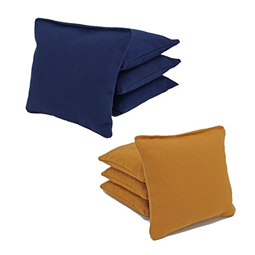 Free Donkey Sports ACA Regulation Cornhole Bags (Set of 8) (Navy and Gold) 25+ Colors to Choose from. -