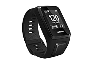 TomTom Spark 3 Cardio, GPS Fitness Watch + Heart Rate Monitor (Black, Large)