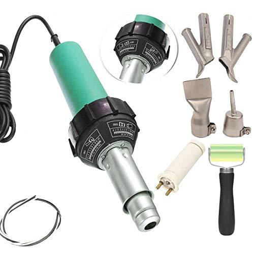 Beyondlife Plastic Hot Air Welder Heating Gun PVC Vinyl Rod Welding Hot Gas Pistol Tool 1600W (Fuel Rod Gun)