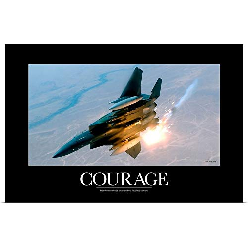 - GREATBIGCANVAS Poster Print Entitled Military Poster: an F-15E Strike Eagle pops Flares During a Combat Sortie by Kate Lillyson 18