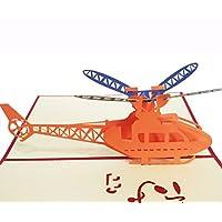 Handmade Pop up Card 3D Greeting Card Birthday Card for Boy Men Plane Model Card for Kid Children