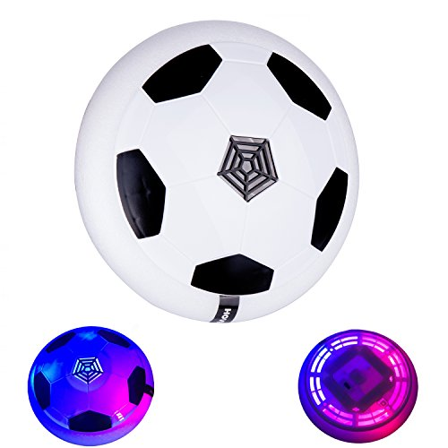 Flashing Soccer Ball (Egoelife Air Power Soccer Disc Football Suspension Gliding Indoor Outdoor Toy with Flashing Light)