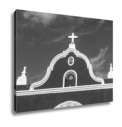 Ashley Canvas Colored Buildings Over A Blue Sky In Campeche Mexico, Kitchen Bedroom Living Room Art, Black/White 24x30, AG6529042 by Ashley Canvas