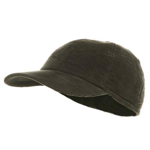 Men's Corduroy Warmer Flap Cap - Charcoal (E4hats Flap Cotton Hat)