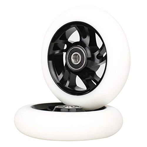 Kutrick Complete 2pcs 110mm Pro Stunt Scooter Replacement Wheels Durable Metal Core with ABEC-11 Bearing