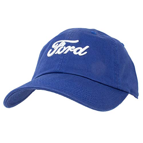 American Needle Ballpark Ford Logo Casual Dad Hat, Bay Blue (FORD-1701A)