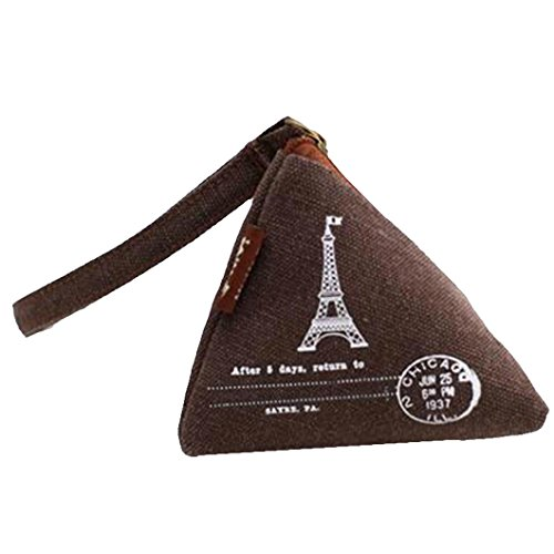 UPC 739189044948, DZT1968(TM)Women Canvas Small Mini Triangle Wallet Coin Purses Clutch Money Bags With Strap (A)