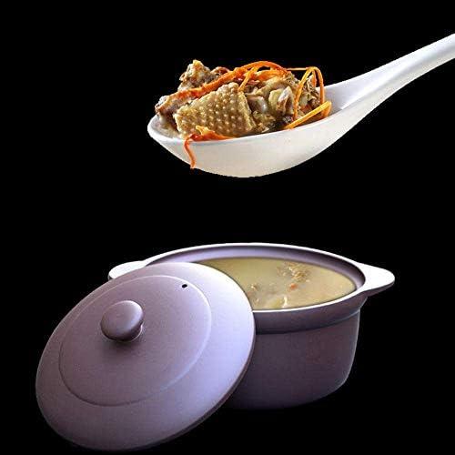 UWY Pots en céramique pour Casserole de Cuisson - Pot à ragoût Casserole Violette Pot à ragoût Soupe Cuisinière à gaz Domestique dédiée Résistance à la chaleur-2L