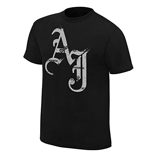 AJ Styles I Am Phenomenal Mens Black T-Shirt-XXL by Hybrid Tees