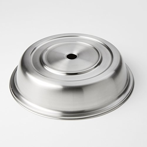 (American Metalcraft PC1025S Round Stainless Steel Plate Cover, Standard or English-Style Foot)