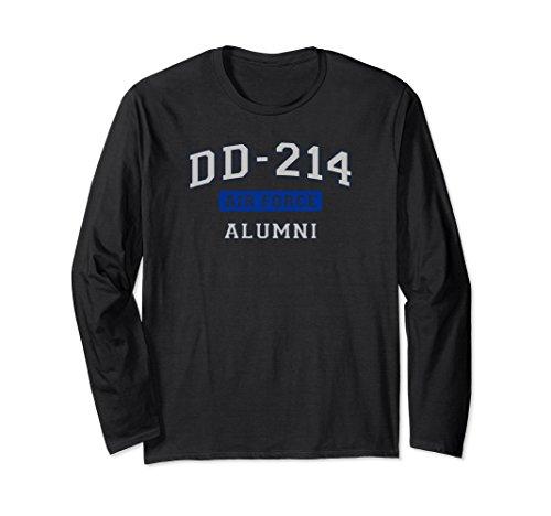Sleeve Force T-shirt Long Air (Unisex DD-214 US Air Force Alumni Long Sleeve T-Shirt 2XL Black)