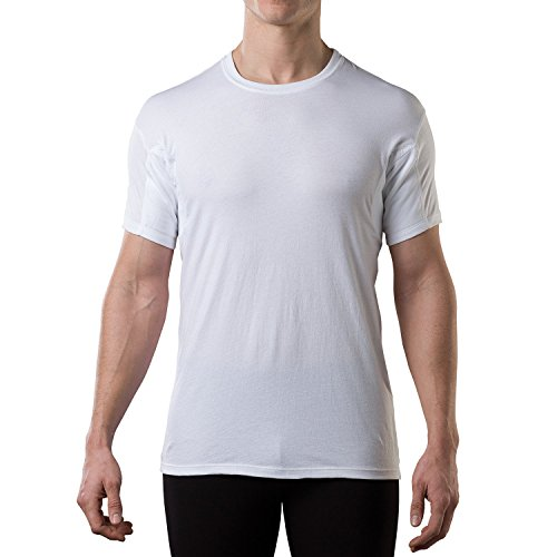 Thompson Tee With Underarm Sweat Pads Original Fit Crew  White  Large