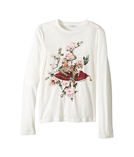 Gabbana & Cotton Shirt Dolce Dress (Dolce & Gabbana Kids Girl's City Zambia T-Shirt (Big Kids) White Youth 8 Big)