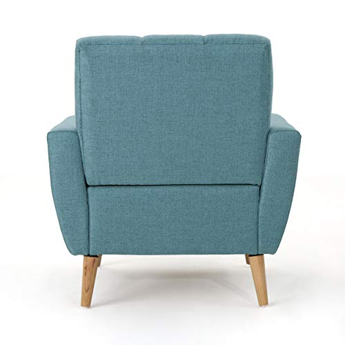 Christopher Knight Home 303696 Angelina Mid Century Blue Fabric Club Chair, - 3