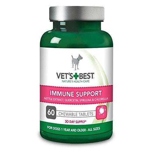 Vet's Best Immune Support Dog Supplement Promotes Healthy Immune System & Seasonal Allergy Relief (60 Tablets)