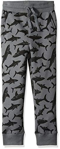 Pant Kids Fleece - Amazon Essentials   Boys' Fleece Jogger Sweatpant, Grey Shark S (6-7)