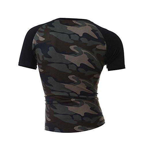 Winsummer Men's T Shirts,Men Casual Slim Fit T-Shirt Raglan Short Sleeve Cotton Tee Shirt Camouflage by Winsummer (Image #1)