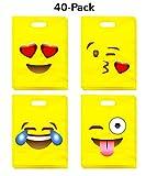 Best Bag For Parties - Emoji Party Bags (40-Pack) - Fun & Cute Review