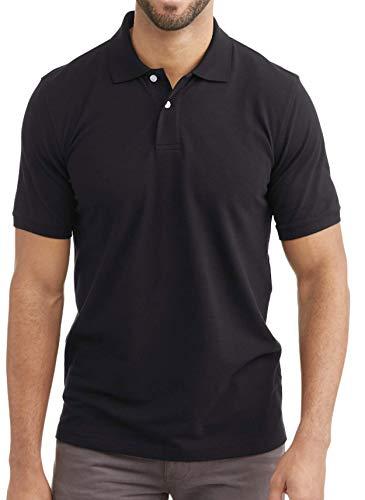 George Men's Short Sleeve Pique Polo - Black - XL