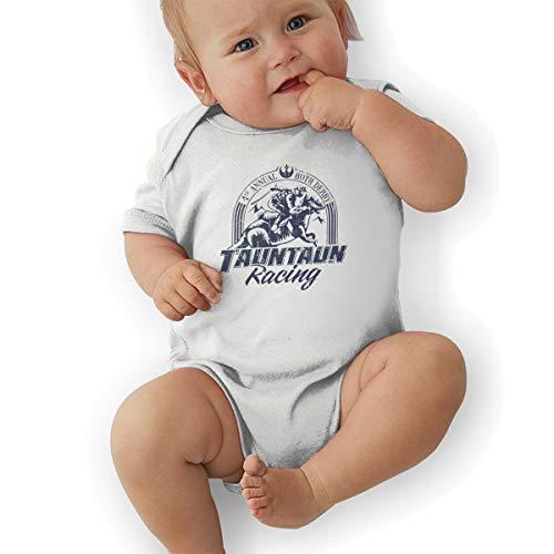 HSWQNWVUHA Hoth Tauntaun Racing Distressed Star Wars Design Baby Crawling Suit Leotard 0-3M White -