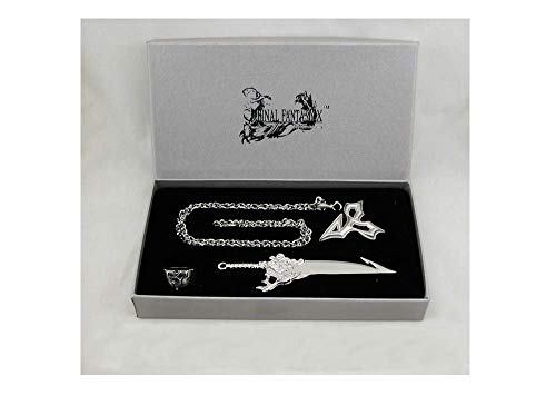 Final Fantasy X 4 Items Set Tidus Necklace Ring Earrings Keychain | FF10 Cosplay Dissidia Cloud XV