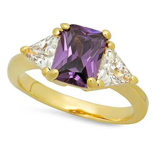 3 Stone Purple Ring - 1