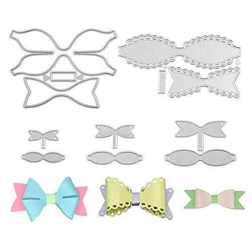5 Set Bow Tie Cutting Dies, Bows Die Stencil Cutter for Scrapbooking Card Making DIY Craft and Gift Wrapping