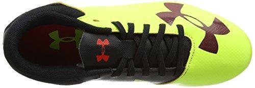 Under Armour Ua B Spotlight Dl Fg-r Jr, Chaussures de Football Entrainement Garçon, Jaune (High-Vis Yellow 731), 35.5 EU