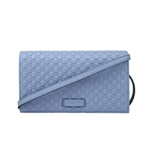 Gucci Men's Light Blue Leather Crossbody Wallet Bag 466507 4503