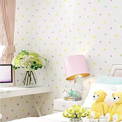 Stupendous Amazon Com Yueqisong Colorful Dots Wallpaper For Kids Rooms Download Free Architecture Designs Embacsunscenecom