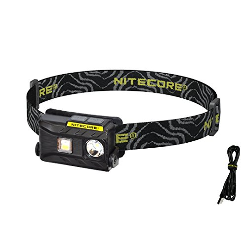 Nitecore NU25 360 Lumen Triple Output - White, Red, High CRI - Lightweight USB Rechargeable Headlamp (Black)