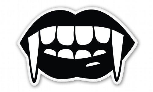 Vampire Fangs Vinyl Sticker - Car Window Bumper Laptop - SELECT SIZE]()