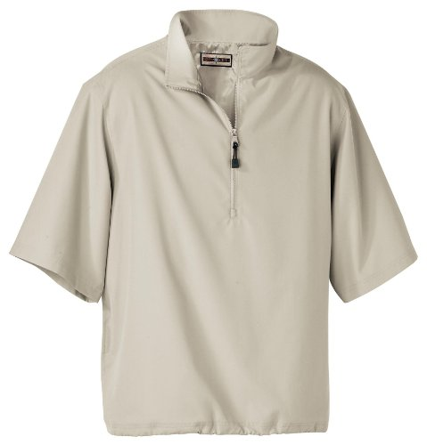 North End Men's MICRO Short Sleeve Windshirt With Teflon(r)>3XL PUTTY 88084
